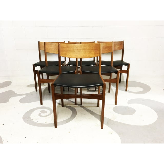 Mid-Century Poul Volther Teak Chairs - Set of 6 - Image 3 of 6