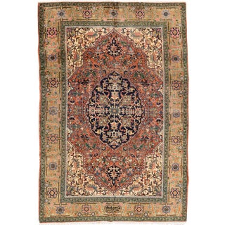 "Apadana Antique Persian Heriz Rug - 5'10"" x 8'8"""