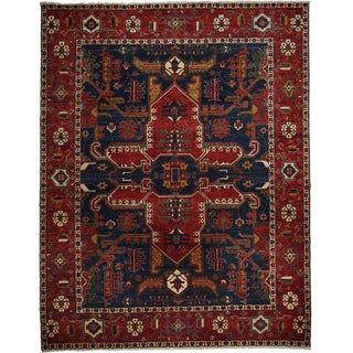 """Contemporary Traditional Hand-Knotted Rug - 8'10"""" x 11' 5"""""""