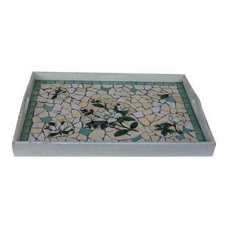 Mosaic Wood Tile Serving Tray