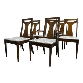 Mid Century Modern Walnut Dining Chairs - Set of 6