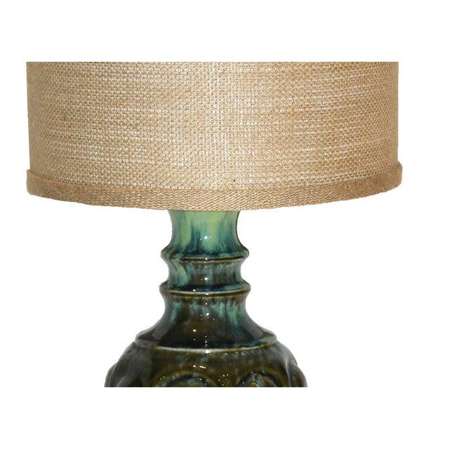 Vintage Ceramic Drip Glaze Lamp - Image 4 of 4
