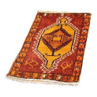 Orange Anatolian Turkish Rug Bag - 2′ × 3′