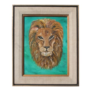 Lion Textured Oil Painting