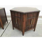 Image of Mersman Mid Century Hexagon Brutalist-Style Side Tables or Nightstands - a Pair