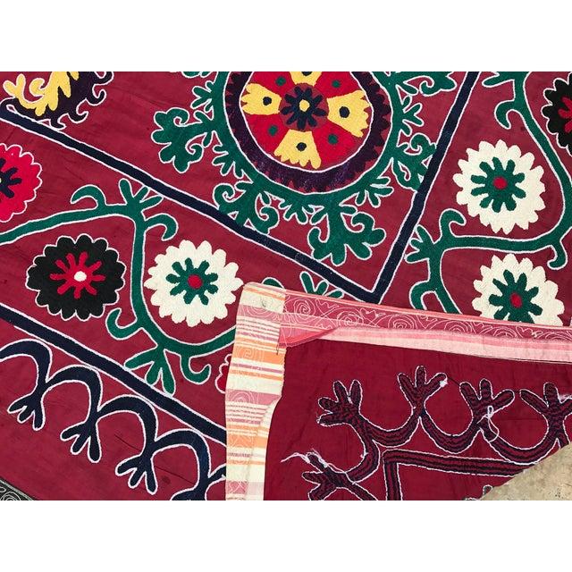 Dark Pink Vintage Suzani - Image 6 of 6