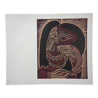 """Vintage Picasso Lithograph-""""Femme Au Collier"""""""