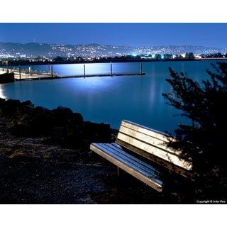 Moonlit Bench - Night Photograph by John Vias