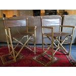 Image of Custom Leather Director's Chairs - Pair