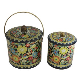 English Floral Biscuit Tin