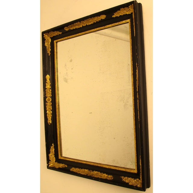 Black & Gold Empire Mirror - Image 6 of 6