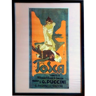 "Puccini's ""Tosca"" by Adolfo Hohenstein Poster Lithograph"