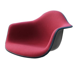 Eames Herman Miller Red Hopsack Arm Shell Chair