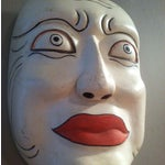 Image of Larger-Than-Life Vintage Japanese Carved Noh Mask
