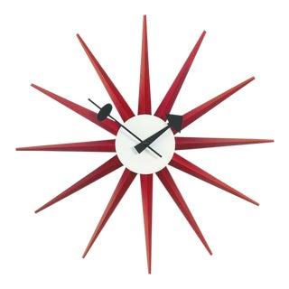 George Nelson Red Sunburst Clock