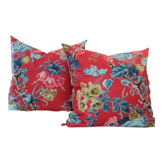 Schumacher Elizabeth Multi Rouge Pillows - A Pair