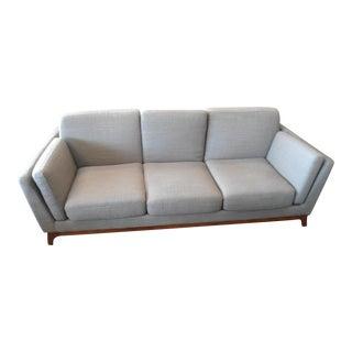 Mid-Century Style Pyrite Gray Sofa