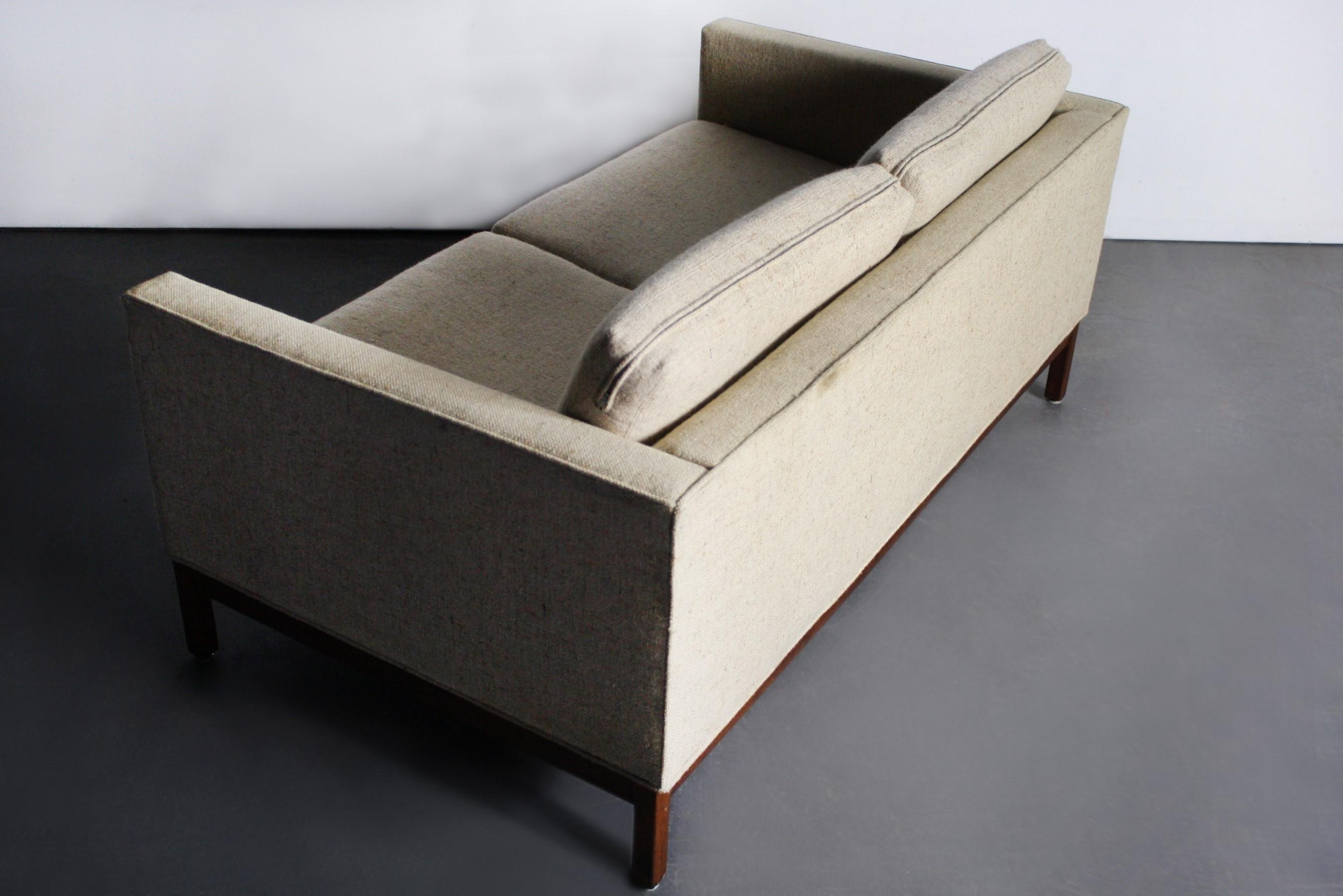 Mid Century Modern Loveseat By Johnson Furniture Company   Image 3 Of 3