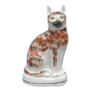 English Staffordshire Pottery Cat, Circa 1850.