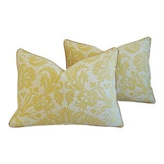 "24"" X 18"" Italian Mariano Fortuny Italian Demedici Feather/Down Pillows - Pair"