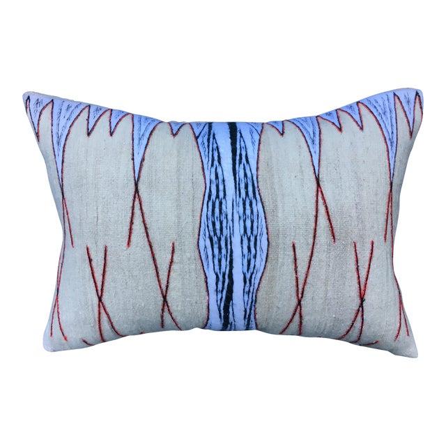 Antique Chieftain Tribal Cape Textile Pillow - Image 1 of 8