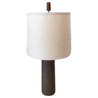 Martz Gordon Ceramic and Teak Lamp 1950s