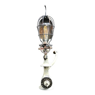Industrial Repurposed Antique Meat Grinder Lamp