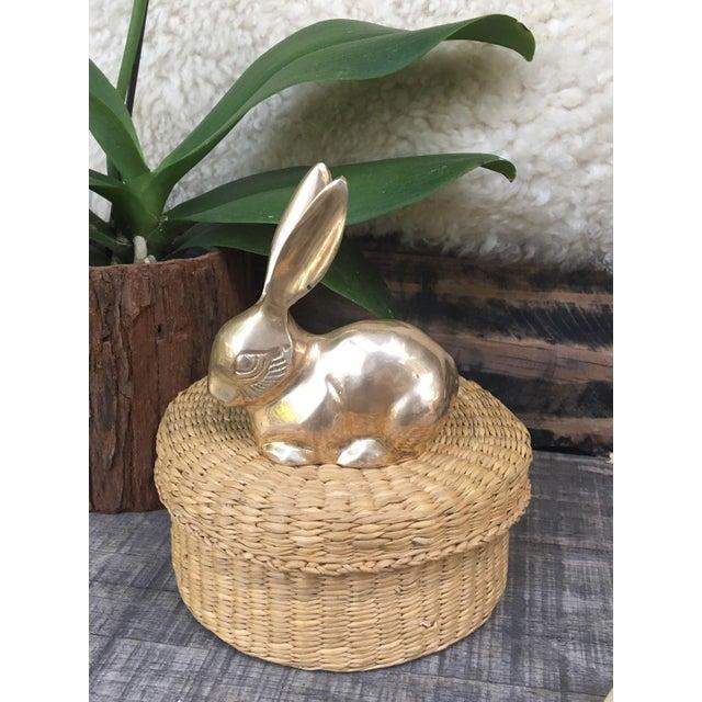 Mid Century Modern Brass Rabbit Bunny Figurine - Image 3 of 7