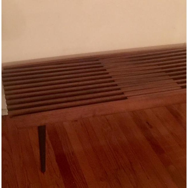 Mid Century Modern Slatted Coffee Table Bench - Image 4 of 4