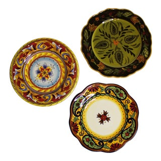 Decorative Ceramic Plates - Set of 3