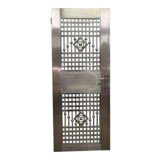 Decorative Metal Framed Door