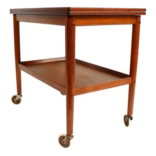 Grete Jalk Danish Modern Teak Bar Serving Cart