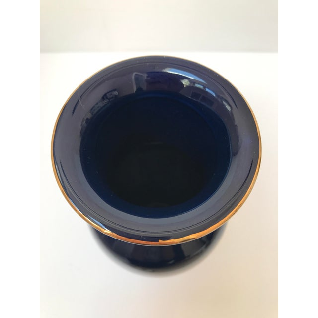 Asian Inspired Navy Floral Vase - Image 6 of 6