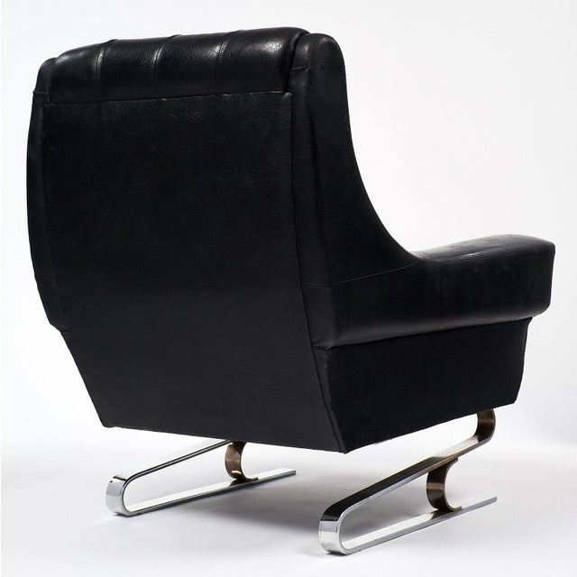 Pair of Vintage French Mid-Century Modern Armchairs - Image 5 of 10