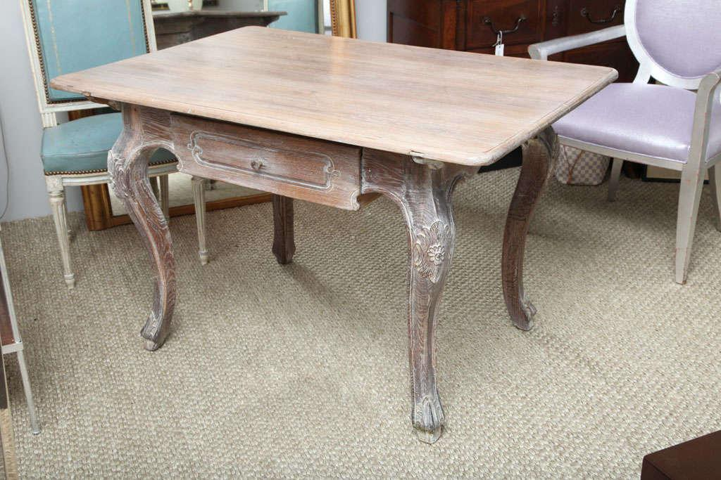 French Cerused Oak Writing Table   Image 2 Of 10