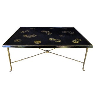 Rare French Cocktail Table with 18th Century Chinese Lacquered Top