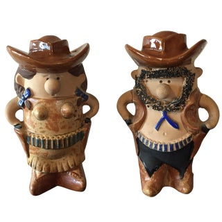 Cowboy & Cowgirl Salt and Pepper - A Pair