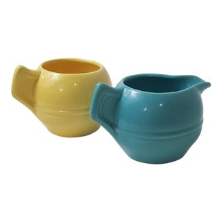 California Pottery Cream & Sugar Set - A Pair
