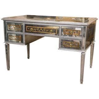 French Verre Églomisé Vanity or Desk