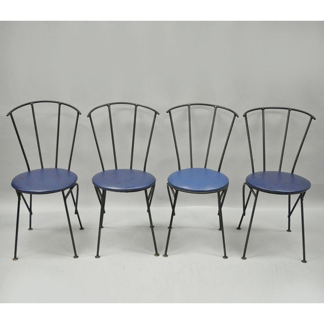 Mid-Century Modern Brutalist Iron Rebar Dining Chairs - Set of 4 - Image 11 of 11