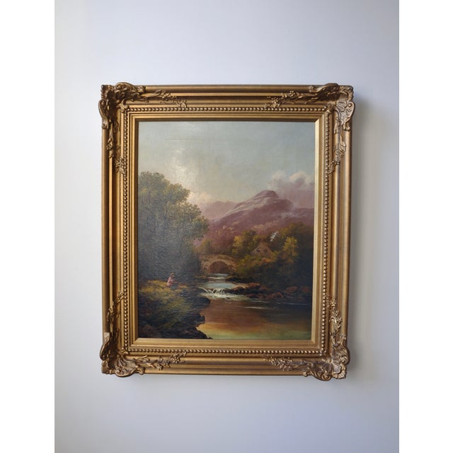 Francis Sydney Muschamp Oil on Canvas - Image 2 of 3