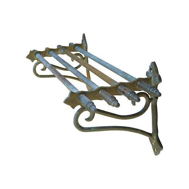 Image of Antique Brass Pullman Shelf Rack