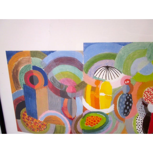 Sonia Delaunay Abstract Geometric Framed Art - Image 9 of 9