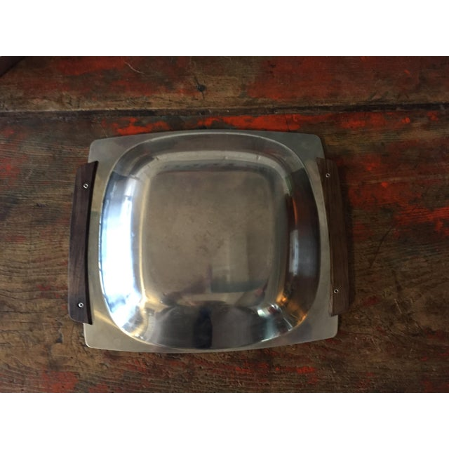 Danish Modern Stainless Butter Dish & Tray - Image 4 of 8