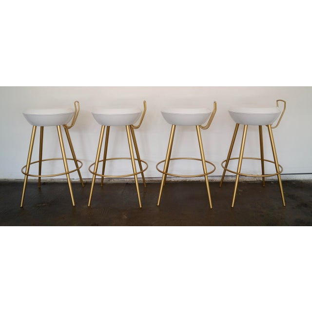Mid-Century California Modern Bar Stools - Set of 4 - Image 3 of 11