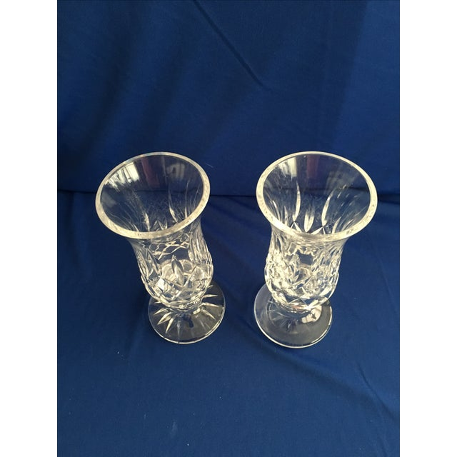 Waterford Lismore Hurricane Lamps - Pair - Image 4 of 8