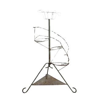 Vintage Metal Plant Stand Riser