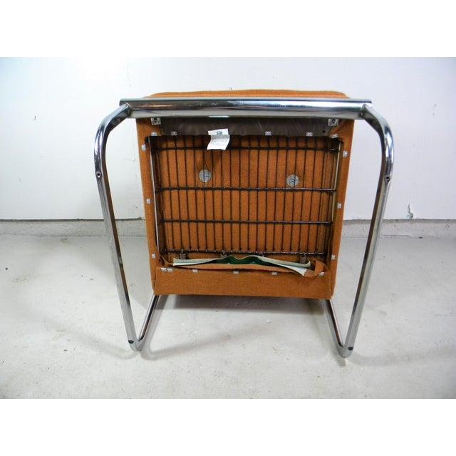 Mid Century Armless Chrome Chair - Image 5 of 6