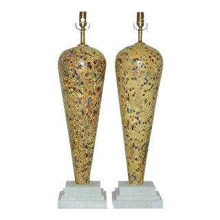 Jewel Encrusted Vintage Murano Lamps