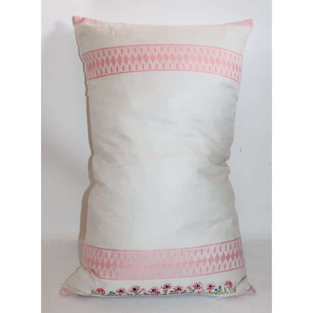 Image of American Floral Tea Towel Pillow